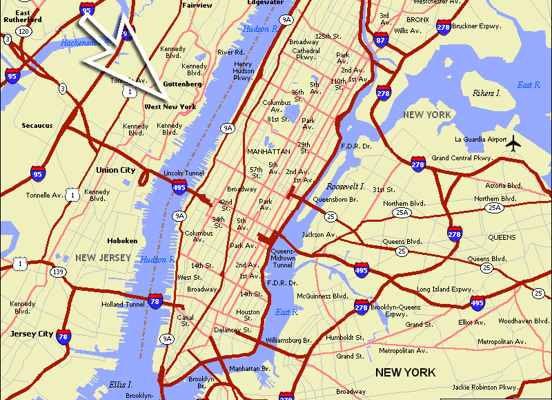 Usa Map Hudson River